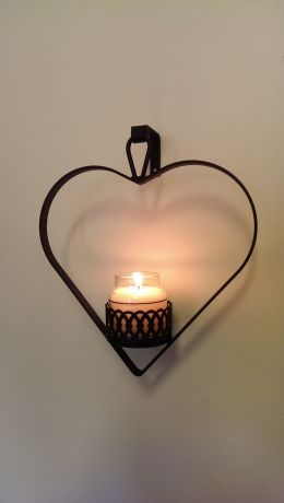 Wrought Iron Jar/Votive Sconce