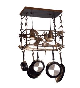 Falling Leaves Lighted Pot Rack