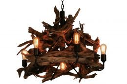 7 Light Driftwood Chandelier