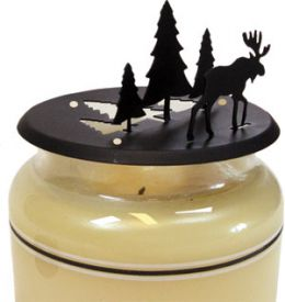 Strolling Moose Candle Jar Topper
