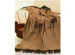 Embroidered Team Roping Throw Blanket