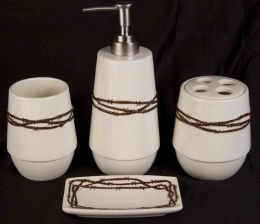 Barbed Wire Bathroom Set