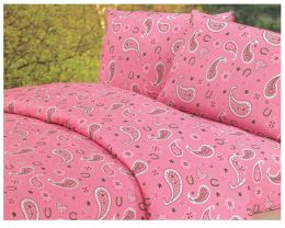 Vibrant Pink Paisley Sheet Set
