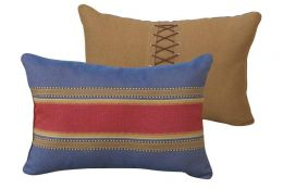 Denim Shoelace Pillow - Clearance Only 2 Available