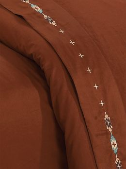 Embroidered Navajo Sheet Set Copper