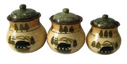 Black Bear Canister Set of 3