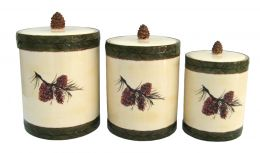 Pinecone Canister Set