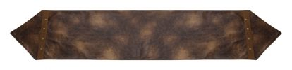 Faux Leather Rustic Valance