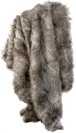 Faux Fur Chinchilla Throw Blanket