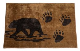 Bear Rug with Paw Prints