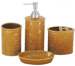4 Piece Savannah Bath Set in Mustard