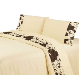 Cowhide Sheet Set Cream