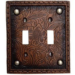 Western Tooled Resin Double Switchplate