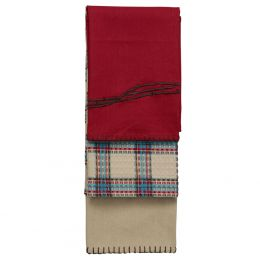 Barbwire Kitchen Towel Set - Red