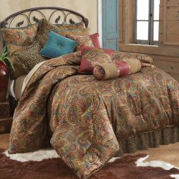 San Angelo Comforter Set Leopard Bed Skirt