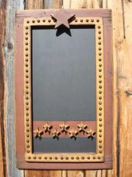 Western Chalkboard Key Holder