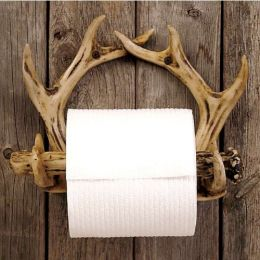 Rustic Antler Toilet Paper Holder