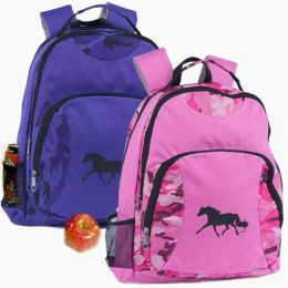 Trotting Purple Camo Backpack