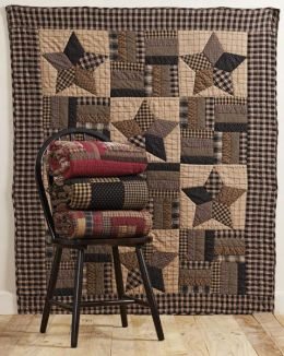 Hand Quilted Throw - Patchwork Stars - 100% Cotton