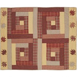 Hand Quilted Throw - Farmhouse Plaid - 100% Cotton