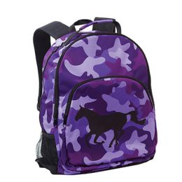 Camo Backpack - Purple - Galloping Horse