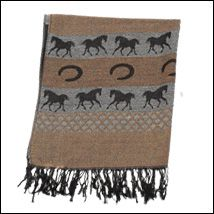 Equestrian Pashmina Scarf Brown
