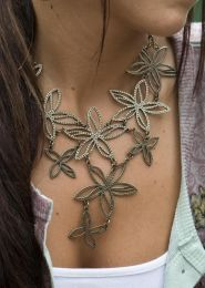 Woven Flower Necklace