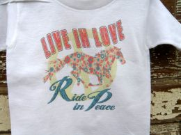 Live In Love Ride in Peace Cotton T Shirt