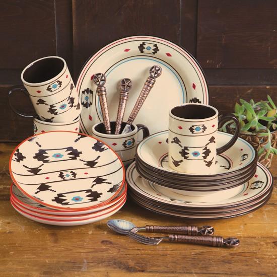 Artesia Native Dinnerware Set | Rustic Dining Sets