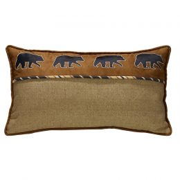 Ashbury Embroidered Black Bear Throw Pillow