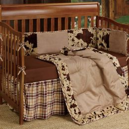 Cowhide Print Crib Bedding Set