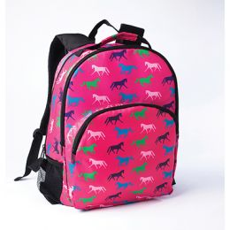 Backpack - Hot Pink with Multi-color Horse Print
