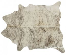 Elegant Light Brindle Cowhide Rug Decor - Available in 3 Sizes