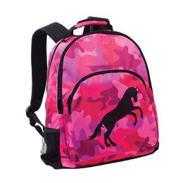 Camo Backpack - Hot Pinks w/ rearing Horse Emblem