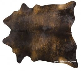 Quality Natural Dark Brindle Cowhide Rugs - 3 Sizes L, XL, XXL