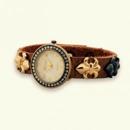 Fleur de Lis Leather Watch