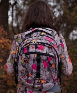 Hotleaf Backpack - Camo Backpack with Hot Pink Accents