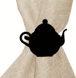 Teapot Wrought Iron Napkin Ring Set