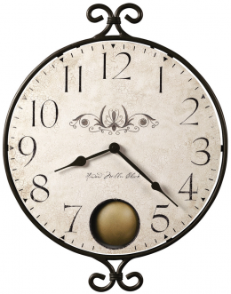Wrought Iron Clock - Rustic Distressed Face - Howard Miller