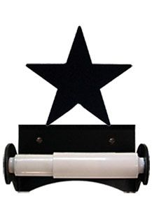 Lone Star Wrought Iron Toilet Tissue Holder
