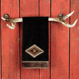 Rustic Deer Antler Towel Rack