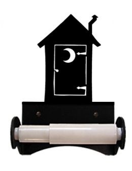 Wrought Iron Outhouse Toilet Tissue Holder