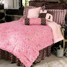 Girls Pink Paisley Western Bedding