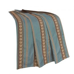 Ruidoso Southwestern Striped Turquoise Throw Blanket