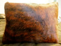 Brindle Hair On Hide Throw Pillow