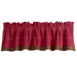 Southern Heaven Red Valance w/ Windowpane Design