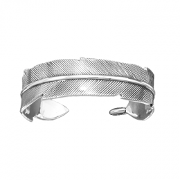 Sterling Silver Bracelet - Wrapped Feather Cuff