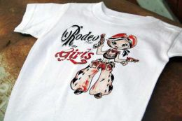 Toddler Vintage Rodeo For Girls Cotton Tee Shirt