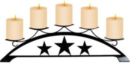 5 Candle Tabletop Lone Star Tiered Candle Holder