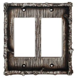 Birch Twig Double Rocker Switch Plate
